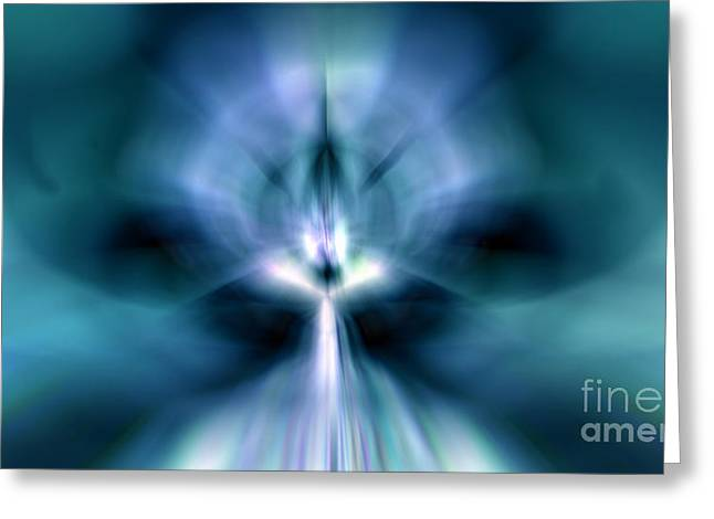 Imaginative Art Prints Greeting Cards - Beam me UP Greeting Card by Peter R Nicholls