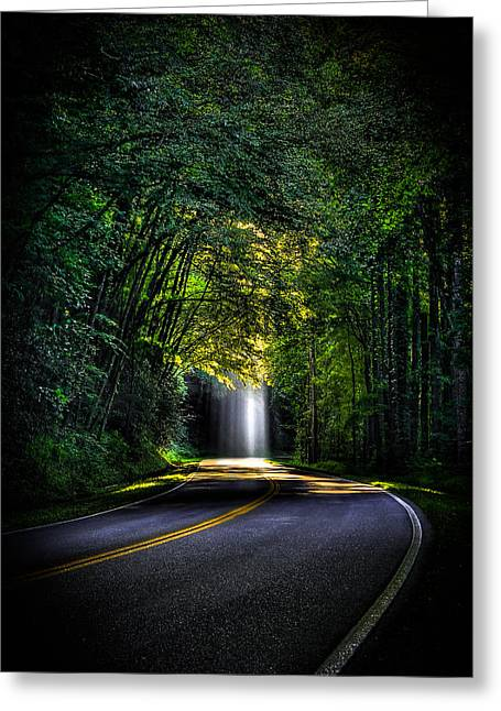 Gatlinburg Tennessee Greeting Cards - Beam Me Up Great Smoky Mountains Greeting Card by Reid Callaway