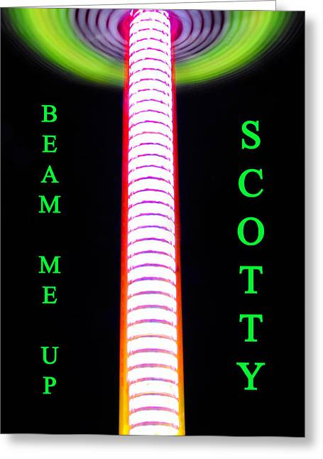 Scotty Art Greeting Cards - Beam me up Scotty Greeting Card by David Lee Thompson