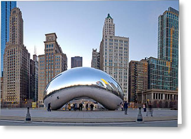 The Bean Greeting Cards - Bean 180 Pano Greeting Card by Kevin Eatinger