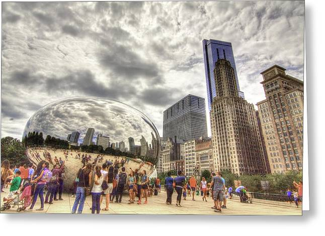 The Bean Greeting Cards - Bean - Looking South Greeting Card by Greg Thiemeyer