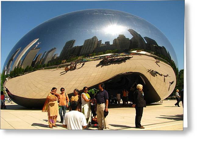 The Bean Greeting Cards - Bean Reflections Greeting Card by Steve Phillips