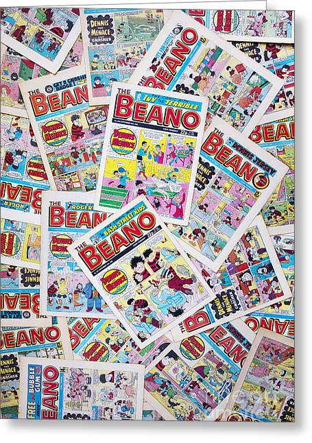 Multicolored Drawing Greeting Cards - Beano Comics Greeting Card by Tim Gainey