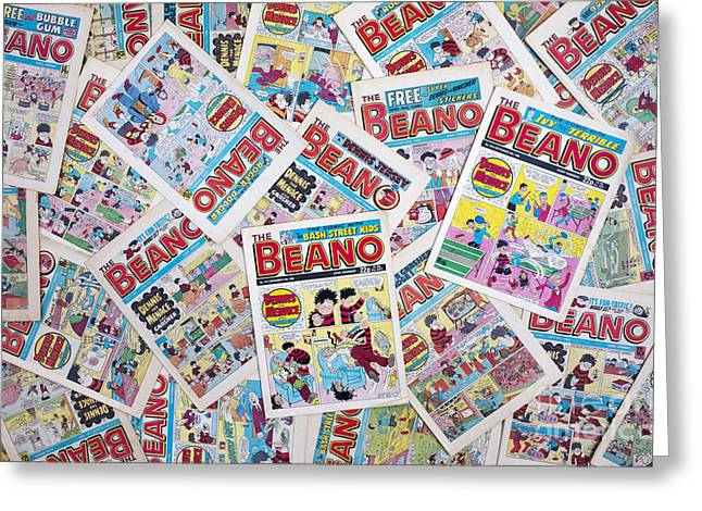 Multicolored Drawing Greeting Cards - Beano Greeting Card by Tim Gainey