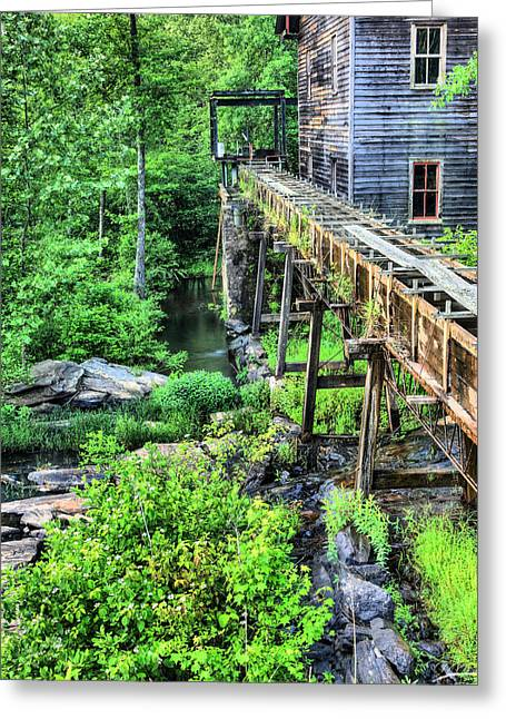 Saw Greeting Cards - Beans Gristmill and Sawmill Greeting Card by JC Findley