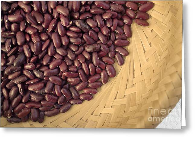 Organic Greeting Cards - Beans in a basket Greeting Card by Ladi  Kirn