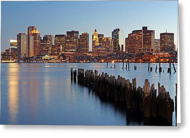 Custom House Tower Greeting Cards - Beantown Greeting Card by Juergen Roth
