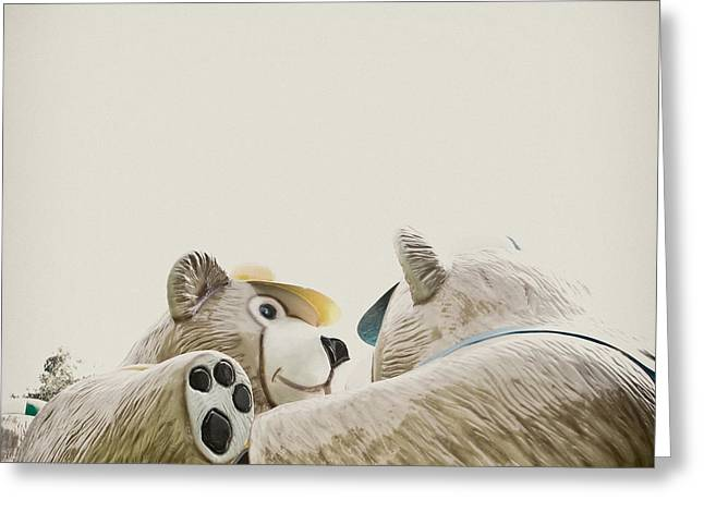 Assembly Greeting Cards - Bear Affair Greeting Card by Yo Pedro