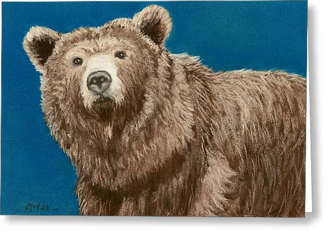Bear Pastels Greeting Cards - Bear Greeting Card by Anastasiya Malakhova