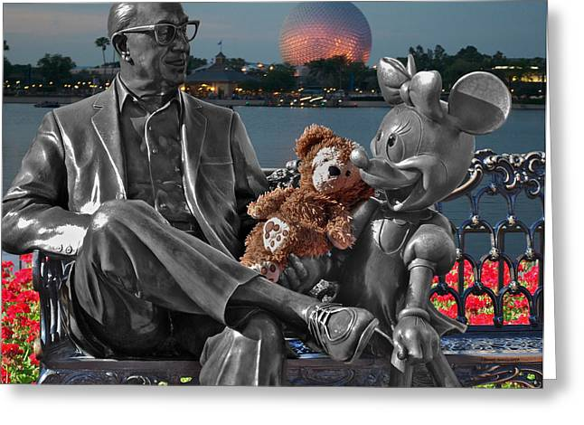 Photography By Tom Woolworth Greeting Cards - Bear and His Mentors Walt Disney World 05 Greeting Card by Thomas Woolworth