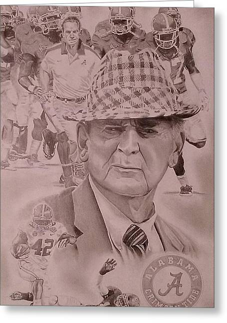 Bear Bryant Drawings Greeting Cards - Bear And The Gang Greeting Card by Jason Aldridge