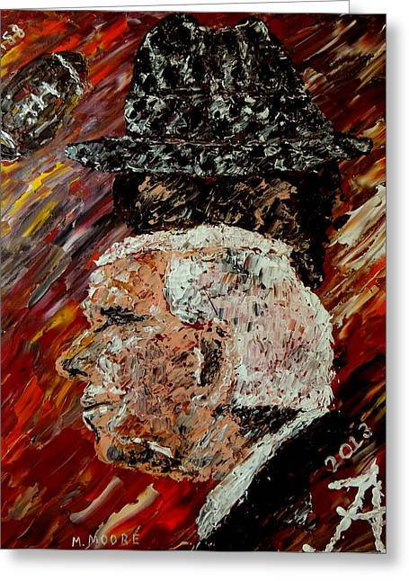 Pallet Knife Photographs Greeting Cards - Bear Bryant and Mal Moore  Greeting Card by Mark Moore