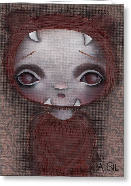 Surreal Pop. Abril Greeting Cards - Bear Girl Greeting Card by  Abril Andrade Griffith