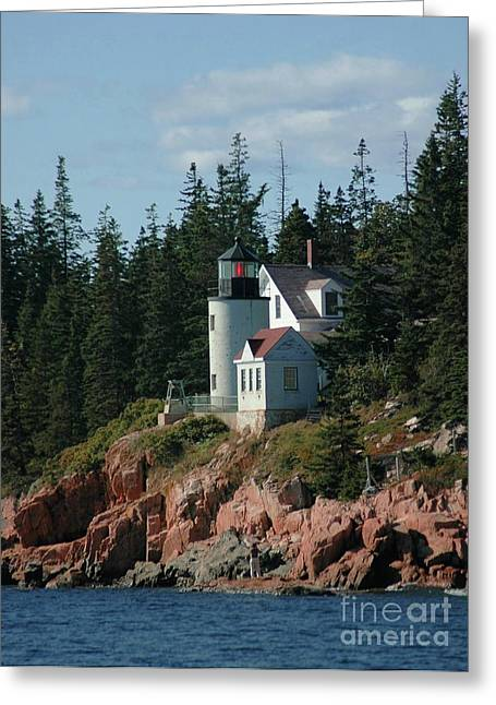 Struckle Greeting Cards - Bear Island Lighthouse Greeting Card by Kathleen Struckle