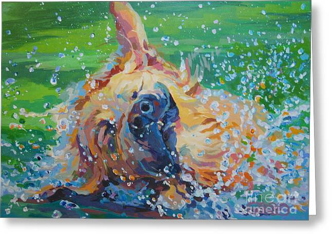 Droplet Paintings Greeting Cards - Bear Greeting Card by Kimberly Santini