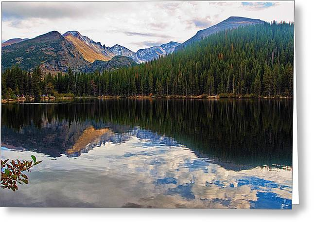 Mountain Reflection Lake Summit Mirror Greeting Cards - Bear Lake Greeting Card by Brian Kerls