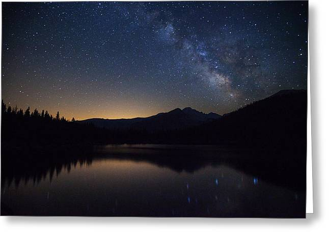 Milky Way Photographs Greeting Cards - Bear lake Milky Way Greeting Card by Darren  White