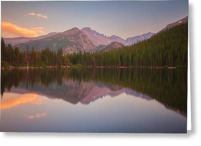 Colorado Mountain Greeting Cards Greeting Cards - Bear Lake Sunset Reflections Greeting Card by Darren  White