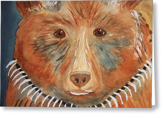 Bear Medicine Greeting Card by Ellen Levinson