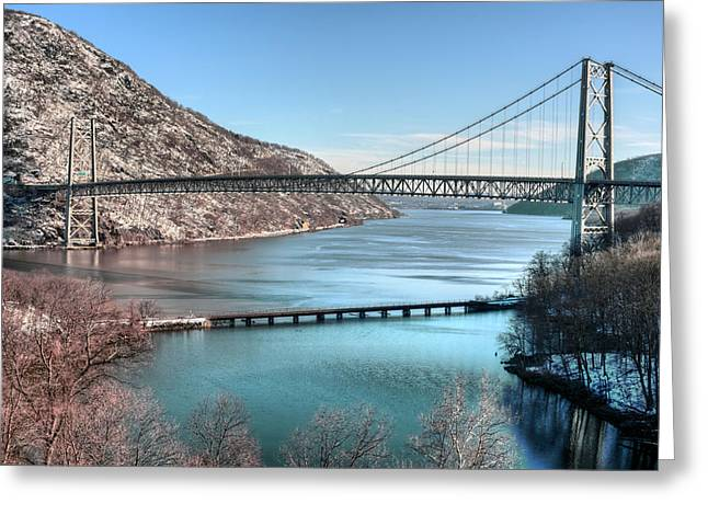 Upstate Ny Greeting Cards - Bear Mountain Bridge Greeting Card by JC Findley