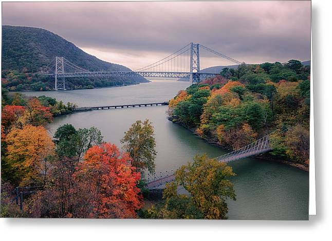 River View Greeting Cards - Bear Mountain Bridge Greeting Card by Joan Carroll