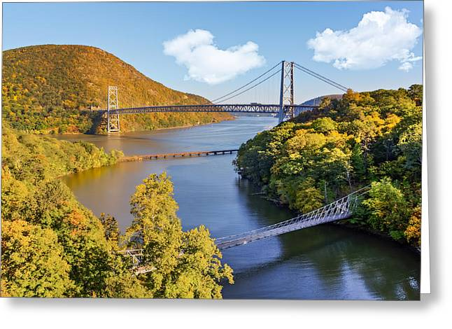 Westchester County Greeting Cards - Bear Mountain Bridge Greeting Card by Susan Candelario