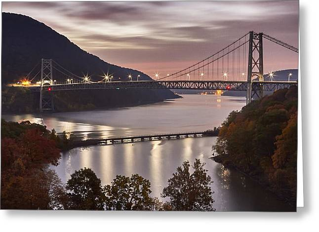 Fall River Scenes Digital Greeting Cards - Bear Mountain in the fall Greeting Card by Eduard Moldoveanu