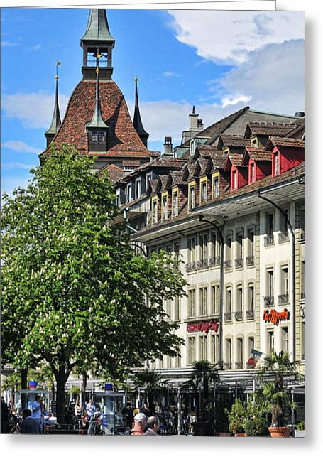 Berne Canton Greeting Cards - Bear Plaza - Bern - Switzerland Greeting Card by JH Photo Service