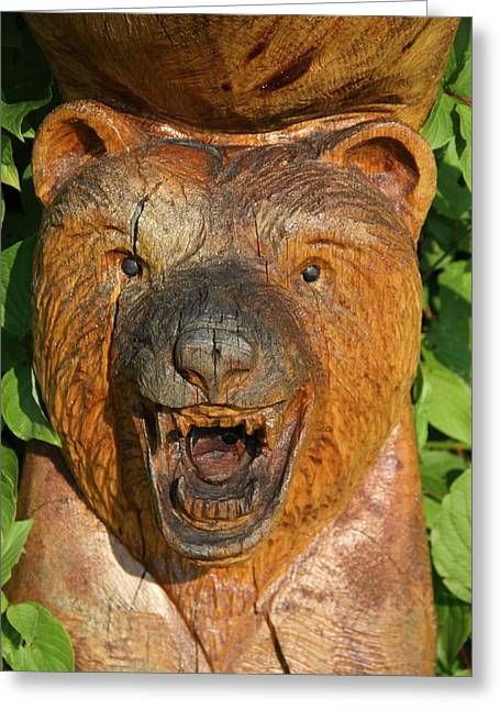 Vicious Greeting Cards - Bear Totem Pole Greeting Card by Dan Sproul