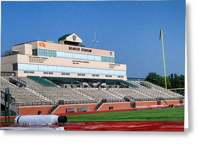 Bearcats Greeting Cards - Bearcat Stadium Greeting Card by Nomad Art And  Design