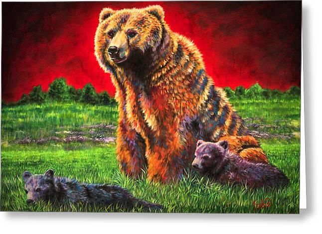Beargrass Greeting Card by Teshia Art