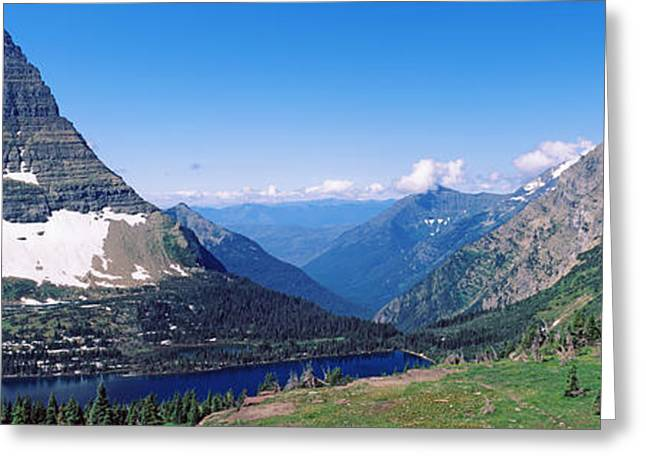 Us Glacier National Park Greeting Cards - Bearhat Mountain And Hidden Lake, Us Greeting Card by Panoramic Images