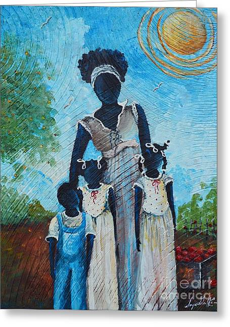 African Heritage Greeting Cards - Bearing Fruit Too Greeting Card by Sonja Griffin Evans