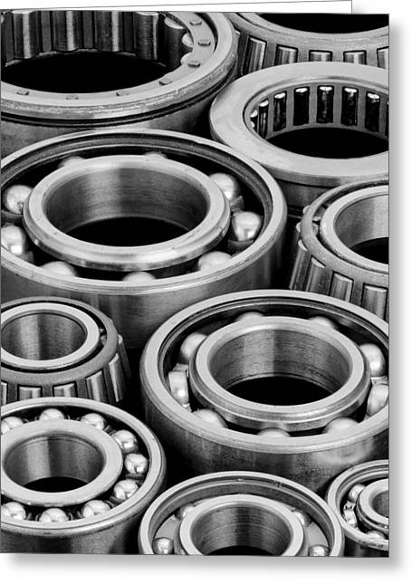 Shafts Greeting Cards - Bearings Greeting Card by Jim Hughes