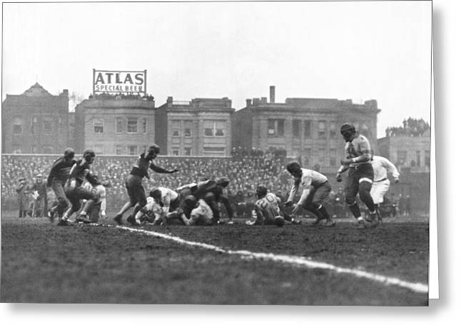 Bears Are 1933 Nfl Champions Greeting Card by Underwood Archives