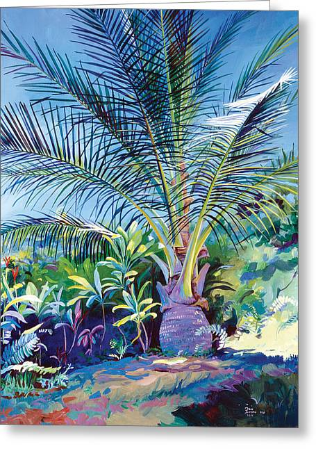 Don Jusko Greeting Cards - Bears Palm Tree Heulo Maui HI Greeting Card by Don Jusko