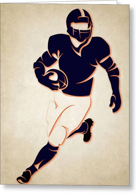 Sports Greeting Cards - Bears Shadow Player Greeting Card by Joe Hamilton