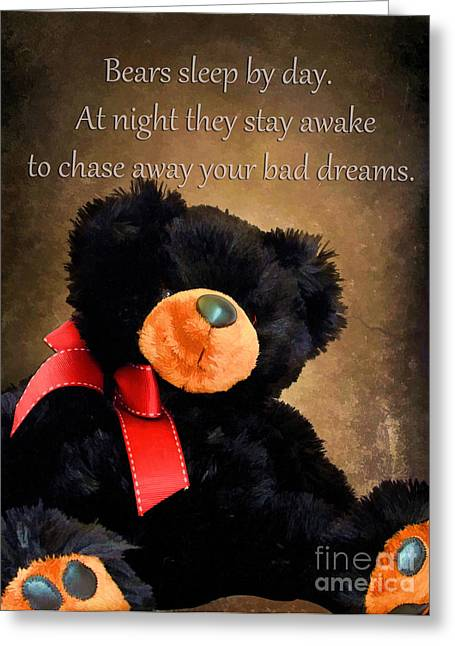 Teddybear Greeting Cards - Bears Sleep By Day Greeting Card by Darren Fisher
