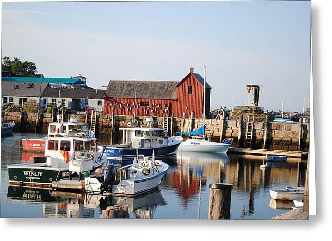 Rockport Ma Greeting Cards - Bearskin Neck Greeting Card by Joe Angers