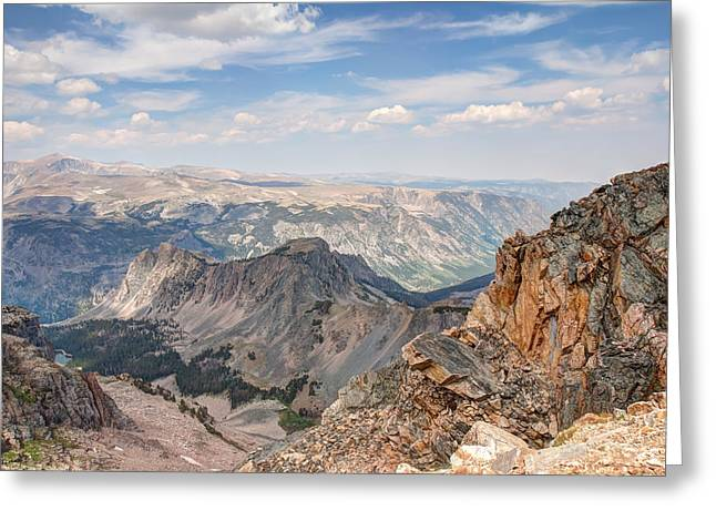 Scenic Drive Greeting Cards - Beartooth Highway Scenic View Greeting Card by John Bailey
