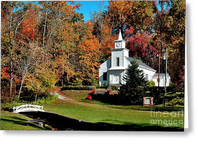 Jeff Mcjunkin Greeting Cards - Bearwallow Baptist Church Greeting Card by Jeff McJunkin