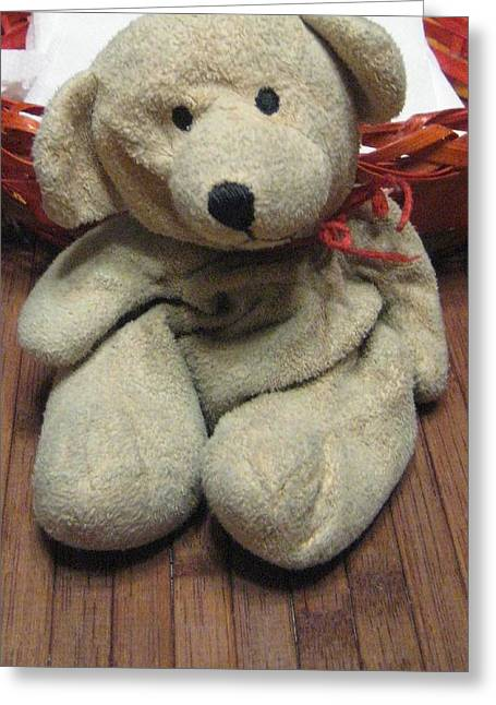 Stuffy Greeting Cards - Beary Takes A Break Greeting Card by Melissa McCrann