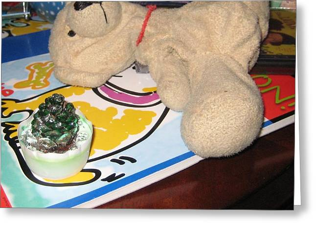 Stuffy Greeting Cards - Beary Takes A Nap Greeting Card by Melissa McCrann