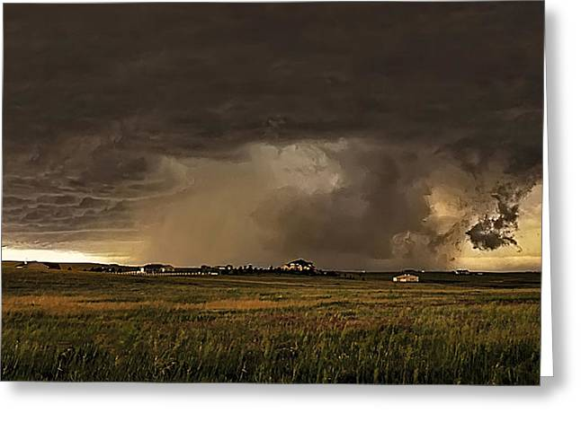 Thunderstorm Greeting Cards - Beast II Greeting Card by Zach  Roberts