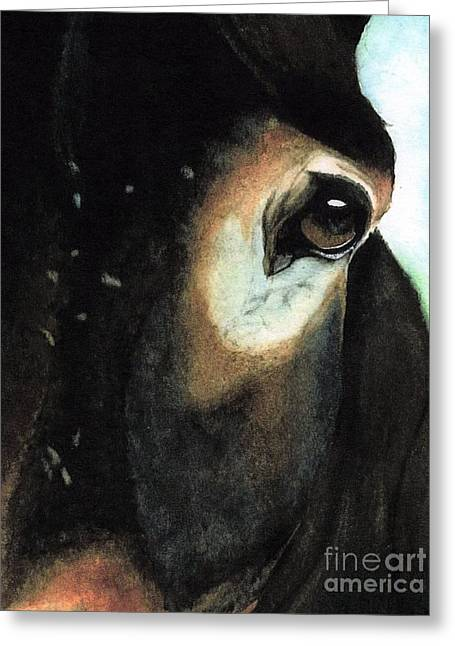 Pack Animal Greeting Cards - Beast of Burden Greeting Card by Janine Riley
