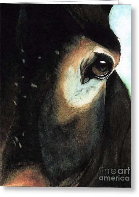 Burden Paintings Greeting Cards - Beast of Burden Greeting Card by Janine Riley