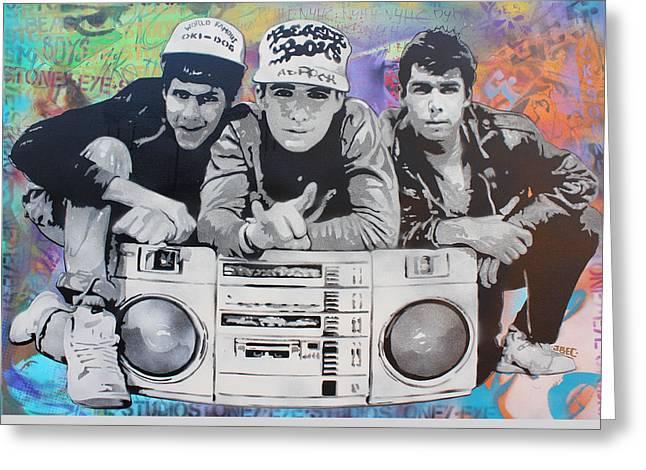 Beastie Boys Greeting Card by Josh Cardinali