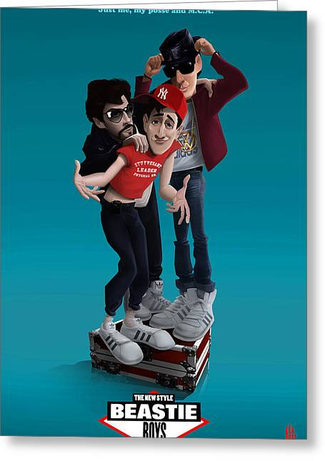 Beastie Boys_the New Style Greeting Card by Nelson Dedos Garcia