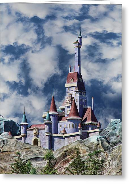 Beauty And The Beast Greeting Cards - Beasts Castle Greeting Card by Lee Dos Santos