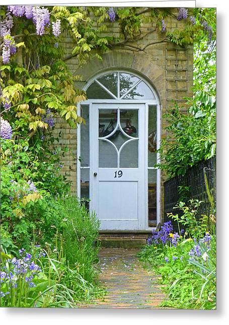 Entryway Greeting Cards - Beat A Path To My Door Greeting Card by Gill Billington